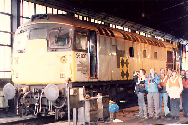 26006 at Eastfield TMD on the 15th August 1992