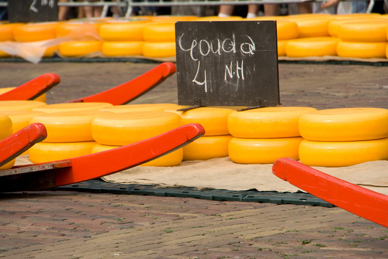 """Alkmaar. While we watched, it was Gouda (pronounced """"how-da"""") that was being sold."""