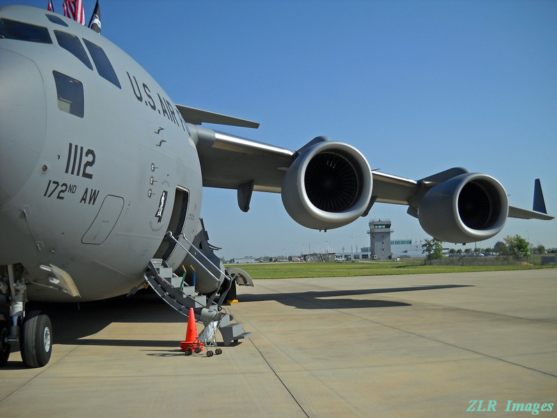 041610 C-17 with tower in background