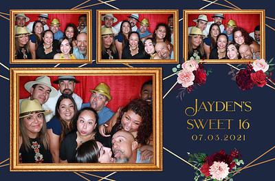 7/3/21 - Jayden's Sweet 16