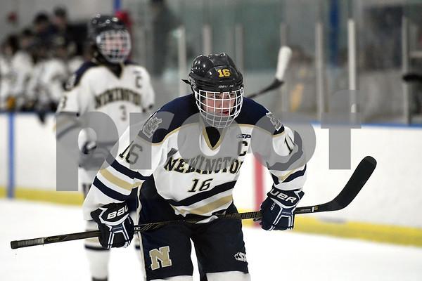 12/30/2017 Mike Orazzi | Staff Newington's Matt Lovoie (16) at the Newington Ice Arena Saturday.