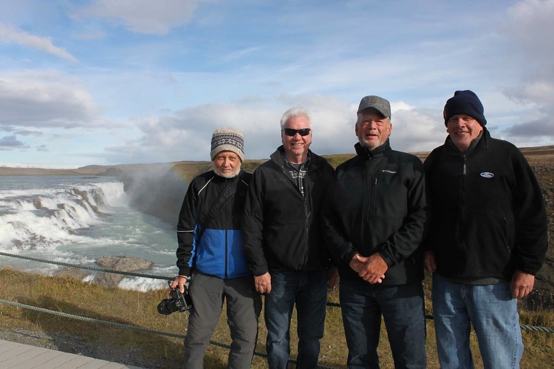The guys at Gullfoss - photo by Ron R.