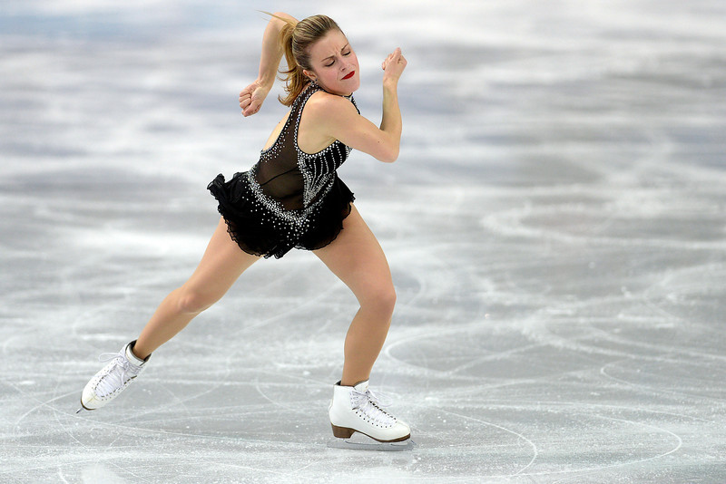 . United States skater Ashley Wagner performs in ladies short program en route to scoring a 63.10 during team figure skating. Sochi 2014 Winter Olympics on Saturday, February 8, 2014. (Photo by AAron Ontiveroz/The Denver Post)