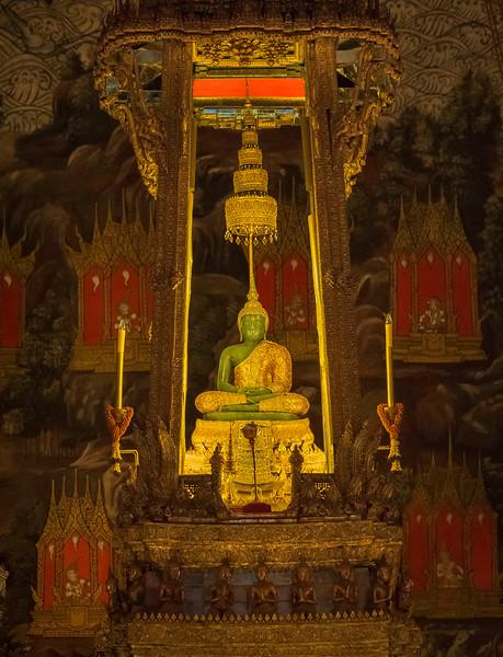 Emerald Buddha at the Royal Palace. Bangkok