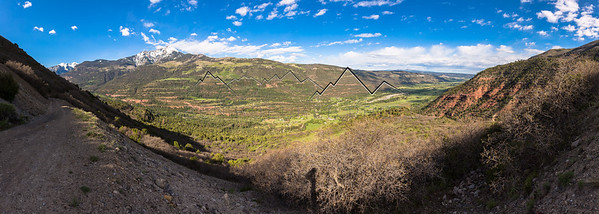 Panorama from Cutler Road above Ouray, CO