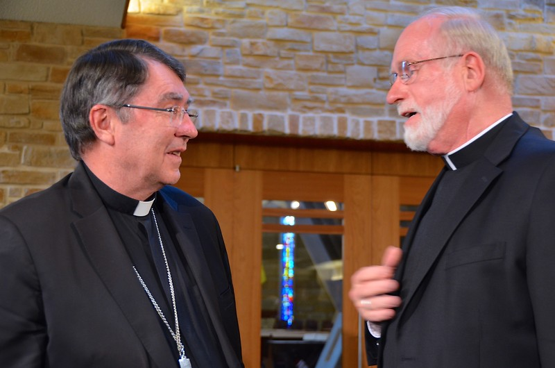 Archbishop Pierre is thanked by Fr. Ed Kilianski for his presentation