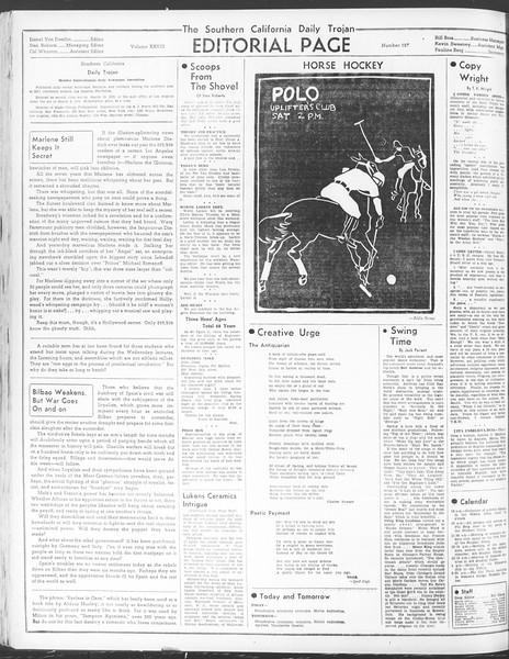 Daily Trojan, Vol. 28, No. 127, April 30, 1937