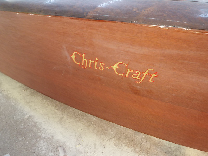 Completed starboard Chris Craft logo.