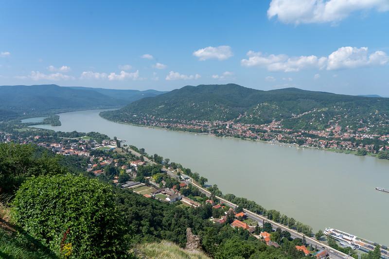 The Danube in Visegrad, Hungary