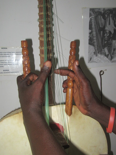 028_Banjul. Kachically Crocodile Poll and Museum. The Kora, Africa's most iconic instrument. 21 string.JPG