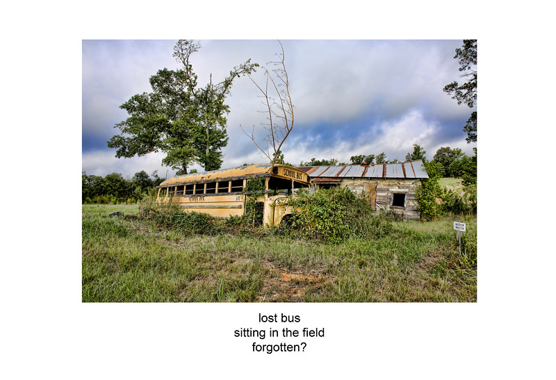2006-09-12 School bus and old Barn poem.jpg