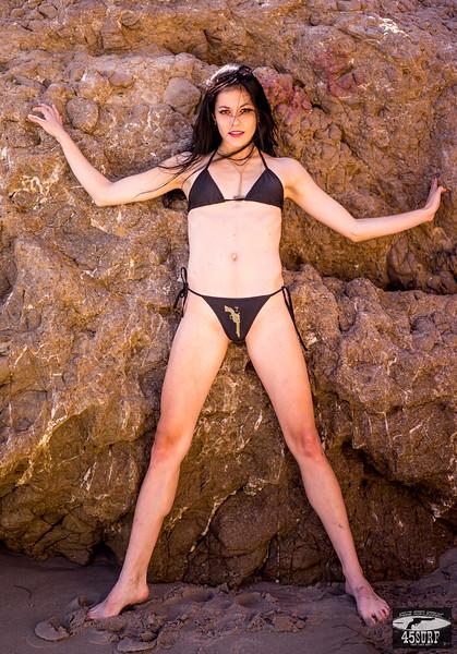 Sony A7R RAW Photos of Pretty Brunette Bikini Swimsuit Model Goddess in Sea Cave! Carl Zeiss Sony FE 55mm F1.8 ZA Sonnar T* Lens! Lightroom 5.3 Malibu Beach!