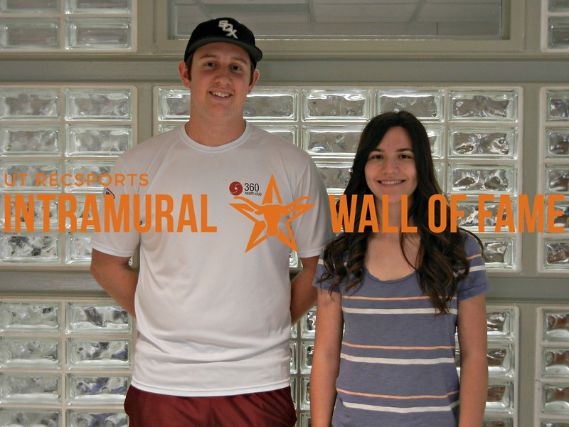 SPRING RACQUETBALL Coed Doubles Champion  Gregory Lyons and Jordan Chesak