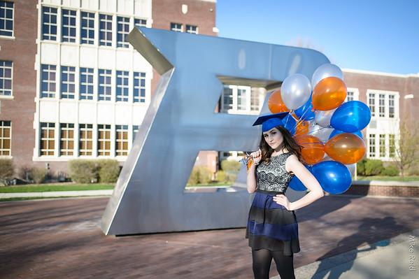 Nicolette's Boise State University Graduation. Boise Photographer.