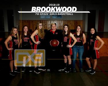 Brookwood JH girls' basketball GBB1819