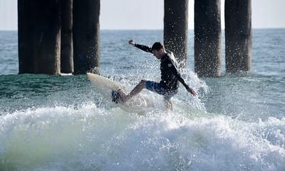 Surfing! Manhattan Beach Pier