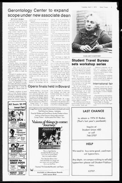 Daily Trojan, Vol. 67, No. 97, April 01, 1975