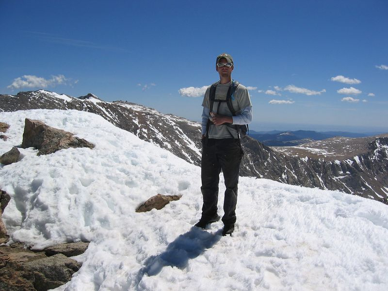 Kyle Meyer's first 14er!