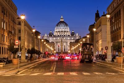 St. Peter's Basilica - night