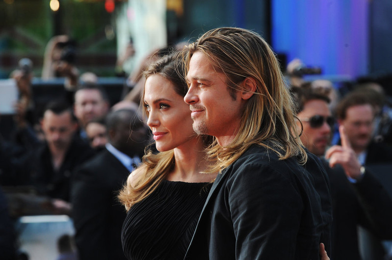 . Angelina Jolie and Brad Pitt attend the World Premiere of \'World War Z\' at The Empire Cinema on June 2, 2013 in London, England.  (Photo by Stuart C. Wilson/Getty Images for Paramount Pictures International)