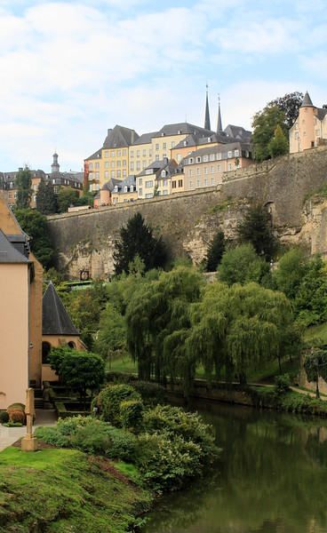 The Pétrusse river flowing through Luxembourg