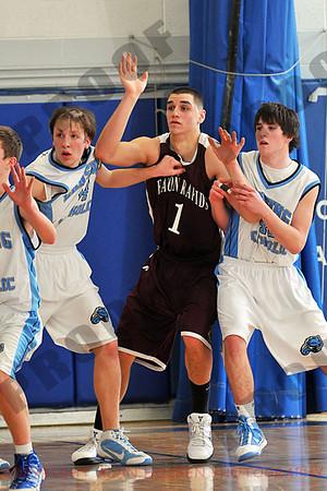 Boys Varsity Basketball - Eaton Rapids at Lansing Catholic - Feb 16