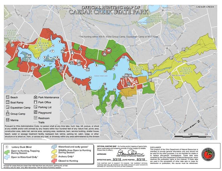 Caesar Creek State Park (Hunting Map)