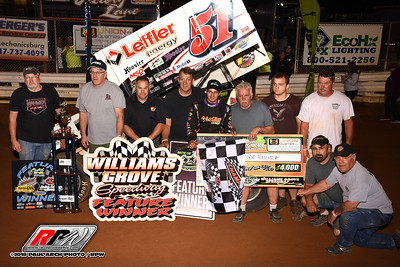 Williams Grove Speedway - All Star Sprints - 8/24/18 - Paul Arch