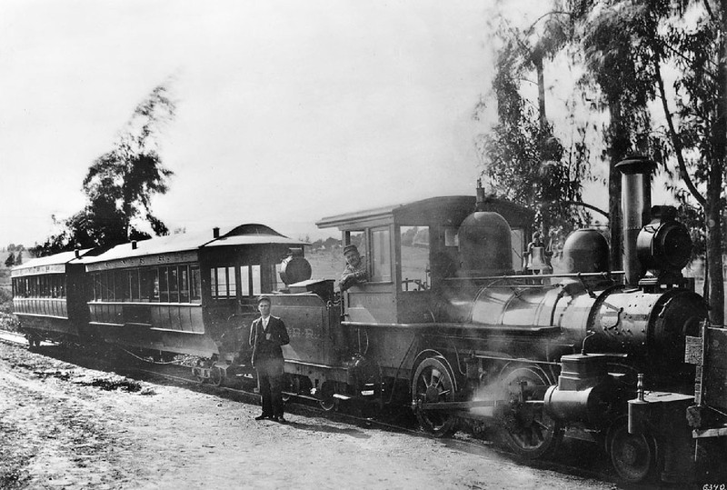 Cahuenga Valley Railroad which ran from Temple to Hoover Streets and on into Hollywood, 1895