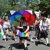 Pride Parade along Elmwood Ave. in Buffalo, NY June, 2013