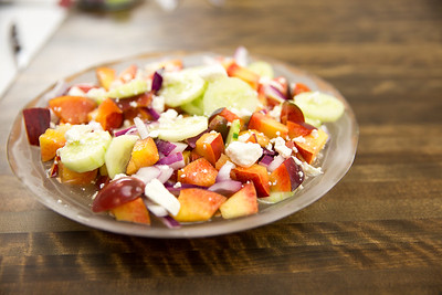 Peachy Greek Salad