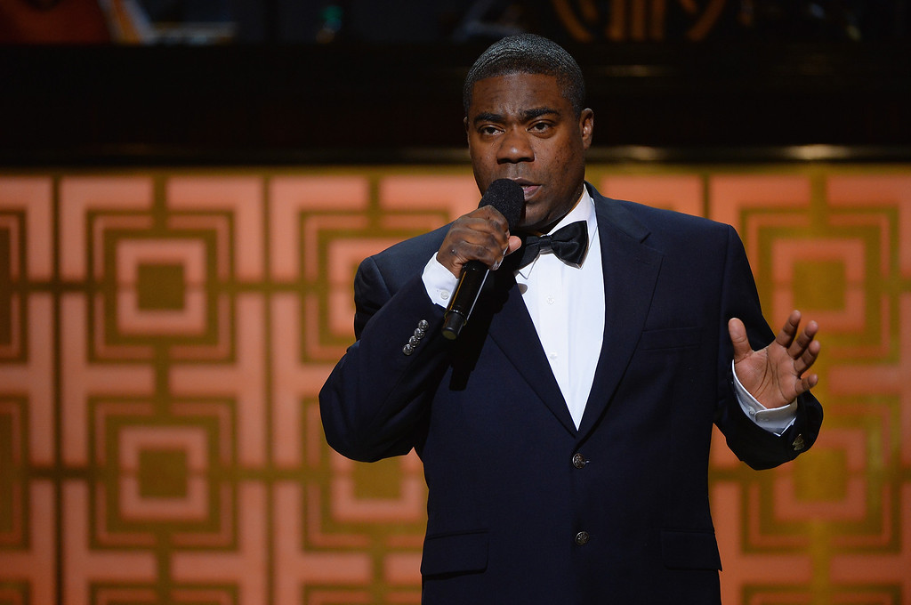 """. Tracy Morgan speaks onstage at Spike TV\'s \""""Don Rickles: One Night Only\"""" on May 6, 2014 in New York City.  (Photo by Theo Wargo/Getty Images for Spike TV)"""