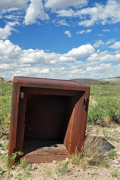 The ghost town of Lake Valley, NM.