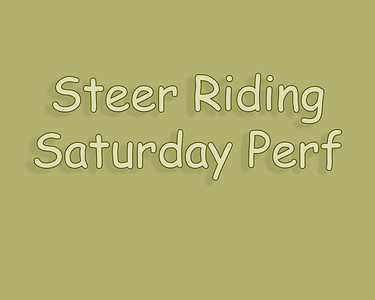 Bow Island 2018 Steer Riding Saturday Perf