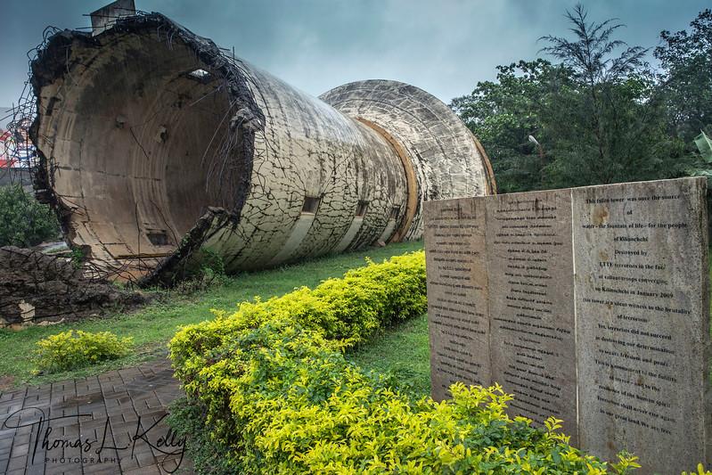 Destroyed Water Tank, Kilinochchi
