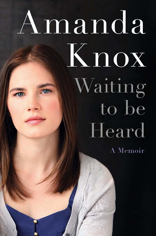 """. This undated photo provided by HarperCollins shows the cover design of \""""Waiting to be Heard\"""". Amanda Knox\'s upcoming memoir has a title, a cover design and a new publication date. HarperCollins announced Wednesday, Nov. 28, 2012 that the book is titled \""""Waiting to be Heard.\"""" It will come out April 30, two months later than originally scheduled. The date was changed out of deference to the court in Italy that scheduled a March 25 hearing for the prosecution\'s appeal of the former exchange student\'s acquittal in the 2007 murder of her British roommate.  (AP Photo/HarperCollins)"""