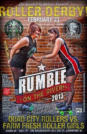 QCR vs Farm Fresh Roller Girls (02-23-13)