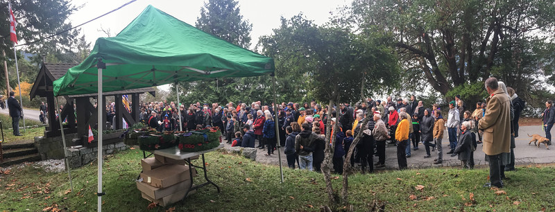 Remembrance Day 2018 Mayne Island