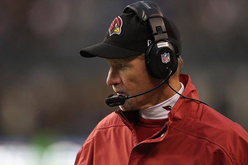 . Ken Whisenhunt head coach of the Arizona Cardinals looks on in the fourth quarter against the Seattle Seahawks at CenturyLink Field on December 9, 2012 in Seattle, Washington.  (Photo by Kevin Casey/Getty Images)