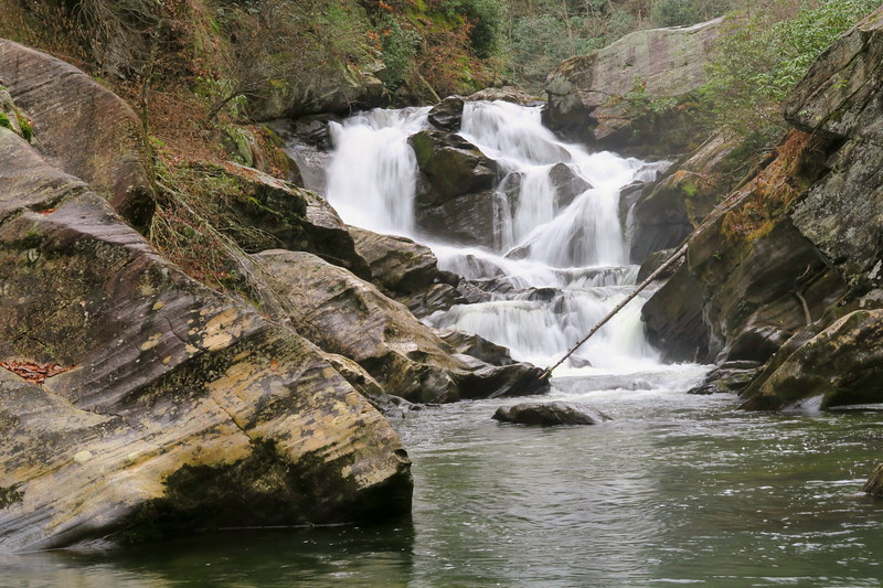 Gorges State Park - Wintergreen & Chub Line Falls  (7.4 miles;  d=10.20)