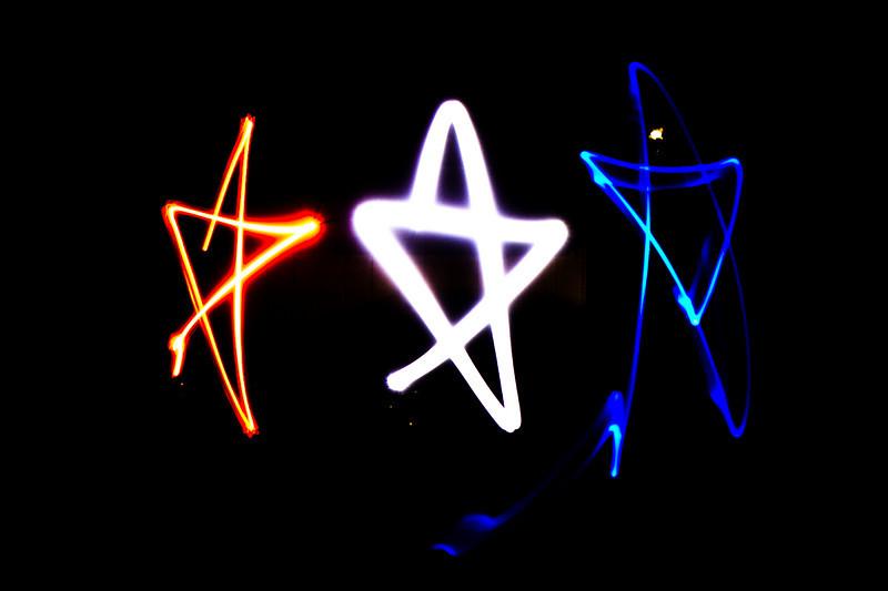 Light painted stars