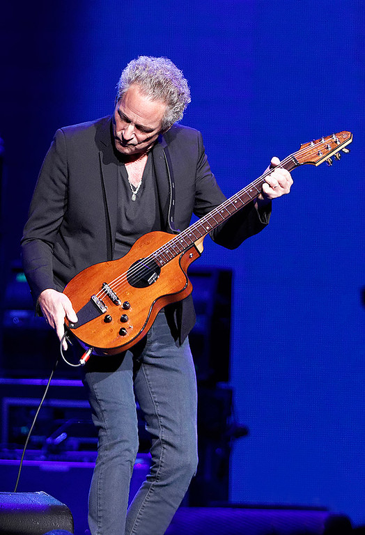 . Lindsay Buckingham plays guitar with Fleetwood Mac on Wednesday, Oct. 22, 2014, at The Palace of Auburn Hills. Photo by Ken Settle-Special to The Oakland Press