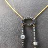 1.80ctw Antique Diamond and Sapphire Negligee Pendant 19
