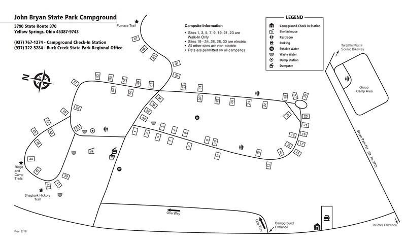 John Bryan State Park (Campground Map)