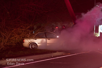 01-30-2012, MVC With Fire,  Upper Deerfield Twp. Cumberland County, Rt. 77 IFO Sta. 31
