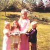 Kristina, Trish, Lisa, Nick - Easter, 1976