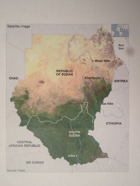 002_South Sudan. The South has the White Nile. The North has the Blue Nile (coming from Lake Tana, Ethiopia. Both Nile merge in Khartoum.JPG