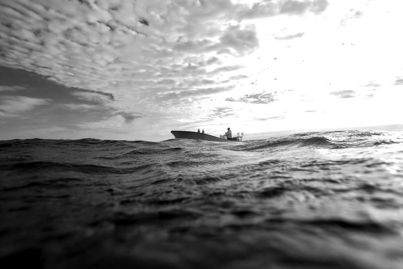 Boat in the sea, Majestic Point, Belize Barrier Reef, Belize