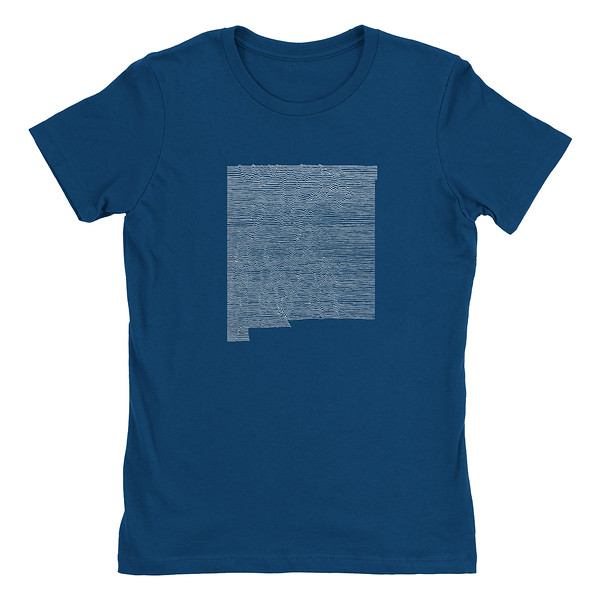 Organ Mountain Outfitters - Outdoor Apparel - Womens T-Shirt - New Mexico Mountain Range Tee - Cool Blue.jpg