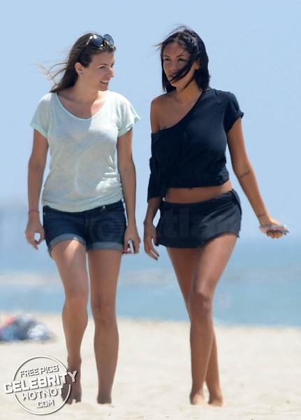 Model Nabilla Benattia Shows Off Her Cheeky Side Filming on Venice Beach!